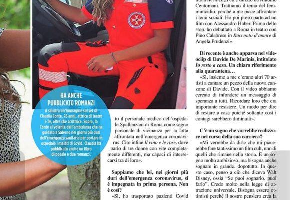 """L'attrice Claudia Conte a Visto: """"Il mio impegno con l'Humanitas"""""""